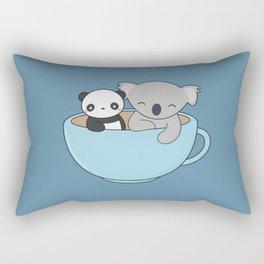 Kawaii Cute Koala and Panda Rectangular Pillow