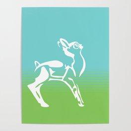 Spring is in the air deer Poster