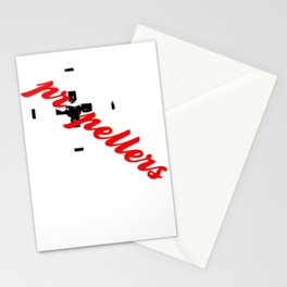Propellers 4 Blade --- clear2land.net  copyright Stationery Cards