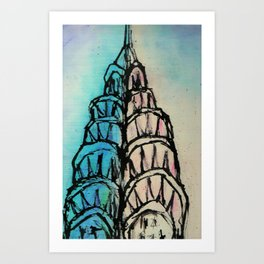 Chrysler at Dawn Art Print