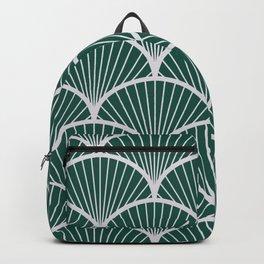 Emeral grey petal geometric pattern Backpack