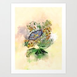 Clarity #watercolor #floral #society6 Art Print
