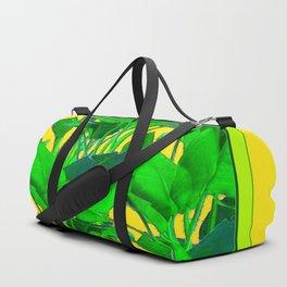 YELLOW GREEN & GOLD TROPICAL  GREEN FOLIAGE ART Duffle Bag