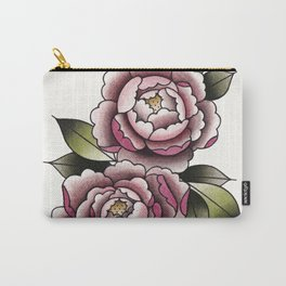 Peonies Watercolor Tattoo Flash by tinybunnybones Carry-All Pouch