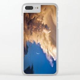Clouds, Birds, Moon, Venus Clear iPhone Case