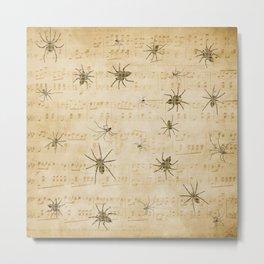 Lyrical Spiders Metal Print