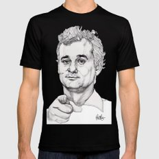 Bill Murray LARGE Mens Fitted Tee Black