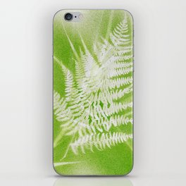 Airbrushed bracken frond and grasses iPhone Skin