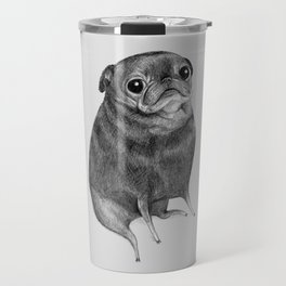Sweet Black Pug Travel Mug