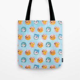 Umie & Mochi VIII - Pattern 2 - Blue Tote Bag