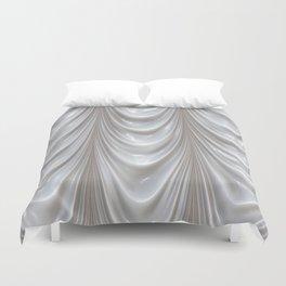 Decadent drapery,white Duvet Cover
