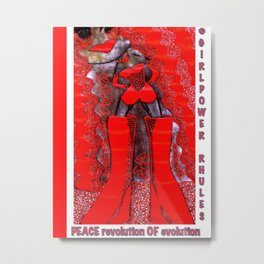 pOOs revolution of Evolution: original tetkaART Metal Print