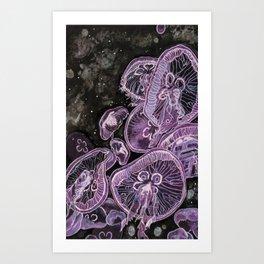 Moon Jelly Art Print