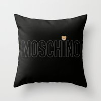moschino Throw Pillows featuring Teddy Bear, Moschino Toy by cvrcak