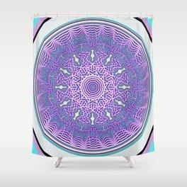 Fractal Mandala Shower Curtain