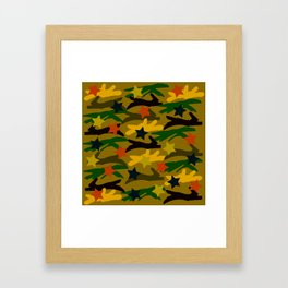 Ballpark Crush Camouflage Framed Art Print