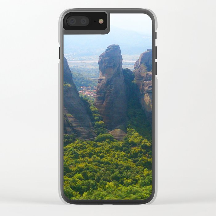 Meditation up to Meteora | Greece | Nature Clear iPhone Case