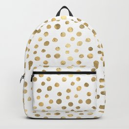 White & Golden Dots Backpack