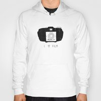 film Hoodies featuring I Love Film by Farnell