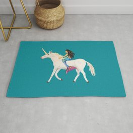 To the Land of Mermaids and Unicorns Rug