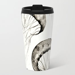 jelly fishes black and white Travel Mug
