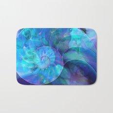 Blue Nautilus Shell  - Seashell Art By Sharon Cummings Bath Mat