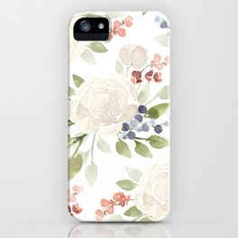 Watercolor ranunculus - Watercolor floral pattern iPhone Case