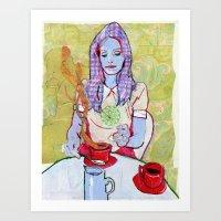 Sugar with my Coffee Art Print
