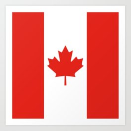 Red and White Canadian Flag Art Print