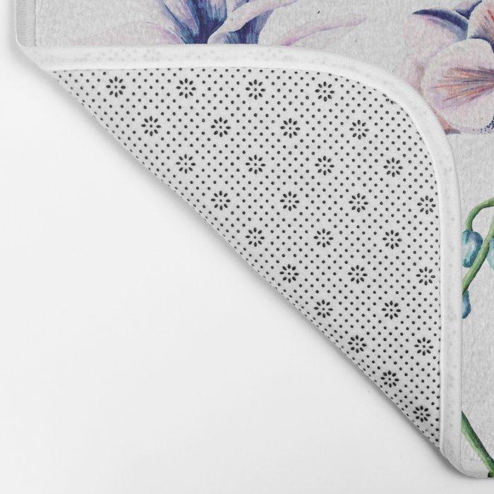 Lavender Blossom Floral Pattern Bath Mat