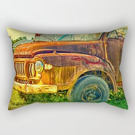Old Rusty Bedford Truck Rectangular Pillow