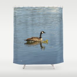 Goose and Gosling Shower Curtain