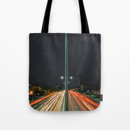 Car Lights Tote Bag