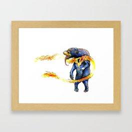 Summer Bear Framed Art Print