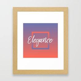 Elegance - Feelings series Framed Art Print