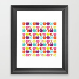 Textured Apples Framed Art Print
