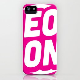 Neon Iconz (Pink) iPhone Case