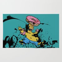 simpsons Area & Throw Rugs featuring Simpsons 25th by sinonelineman