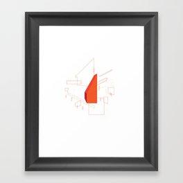 Blueprint #2 (red) Framed Art Print