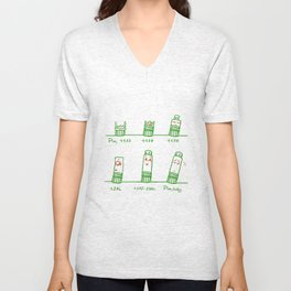 Tower Of Pisa Through The Years Unisex V-Neck