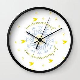 Cicle skull Wall Clock