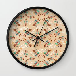 """Neutral Wrestler Doll """"I'm a Fighter at Heart"""" Pattern Wall Clock"""