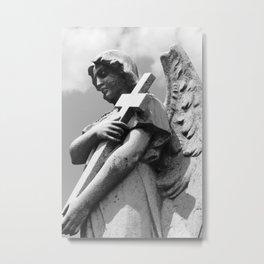 Angel and Cross II Metal Print