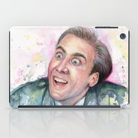 nicolas cage iPad Cases featuring Nicolas Cage You Don't Say by Olechka