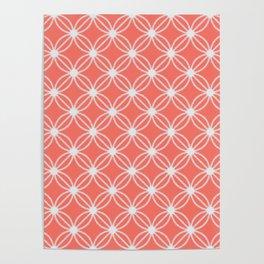 Abstract Circle Dots Peach II Poster