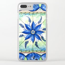 blue mandy Clear iPhone Case