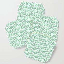 Mid Century Modern Flower Pattern 731 Green Coaster