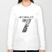 ronaldo Long Sleeve T-shirts featuring Cristiano Ronaldo by Aeriz85