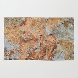 Shale rock surface texture Rug