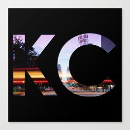 Kansas City KC Western Auto Night Canvas Print